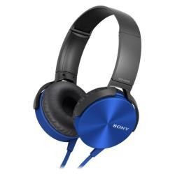 Sony MDR-XB450AP - XB Series - casque avec micro - pleine taille - jack 3,5mm - bleu