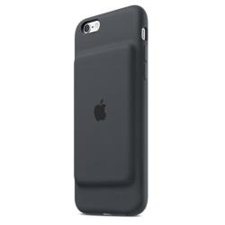 Coque Apple Smart - Boîtier de batterie coque de protection pour téléphone portable - silicone, élastomère - gris charbon - pour iPhone 6, 6s