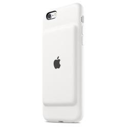 Coque Apple Smart - Boîtier de batterie coque de protection pour téléphone portable - silicone, élastomère - blanc - pour iPhone 6, 6s