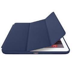 Coque Apple Smart - Protection à rabat pour tablette - cuir - bleu nuit - pour iPad Air 2