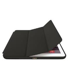 Coque Apple Smart - Protection à rabat pour tablette - cuir - noir - pour iPad Air 2