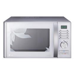 Micro ondes LG MH6383BTC - Four micro-ondes grill - pose libre - 23 litres - 800 Watt - fleur blanche