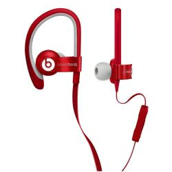 Beats Powerbeats2 - �couteurs avec micro - intra-auriculaire - montage sur l'oreille - jack 3.5mm - isolation acoustique - rouge - pour 12.9-inch iPad Pro; 9.7-inch iPad Pro; iPad (3rd generation); iPad 1; 2; iPad Air; iPad Air 2; iPad mini; iPad mini 2; 3; 4; iPad with Retina display; iPhone 3G, 3GS, 4, 4S, 5, 5c, 5s, 6, 6 Plus, 6s, 6s Plus, SE; iPod (4G, 5G); iPod classic; iPod mini; iPod nano; iPod shuffle; iPod touch