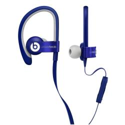 Beats Powerbeats2 - �couteurs avec micro - intra-auriculaire - montage sur l'oreille - jack 3.5mm - isolation acoustique - bleu - pour 12.9-inch iPad Pro; 9.7-inch iPad Pro; iPad (3rd generation); iPad 1; 2; iPad Air; iPad Air 2; iPad mini; iPad mini 2; 3; 4; iPad with Retina display; iPhone 3G, 3GS, 4, 4S, 5, 5c, 5s, 6, 6 Plus, 6s, 6s Plus, SE; iPod (4G, 5G); iPod classic; iPod mini; iPod nano; iPod shuffle; iPod touch