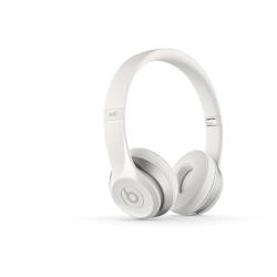 Beats by Dr. Dre Solo2 - Casque avec micro - sur-oreille - sans fil - Bluetooth - blanc - pour 12.9-inch iPad Pro; 9.7-inch iPad Pro; iPad (3rd generation); iPad 1; 2; iPad Air; iPad Air 2; iPad mini; iPad mini 2; 3; 4; iPad with Retina display; iPhone 3G, 3GS, 4, 4S, 5, 5c, 5s, 6, 6 Plus, 6s, 6s Plus, SE; iPod (4G, 5G); iPod classic; iPod mini; iPod nano; iPod shuffle; iPod touch