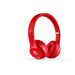 Beats Solo2 - Casque avec micro - sur-oreille - sans fil - Bluetooth - rouge - pour 12.9-inch iPad Pro; 9.7-inch iPad Pro; iPad (3rd generation); iPad 1; 2; iPad Air; iPad Air 2; iPad mini; iPad mini 2; 3; 4; iPad with Retina display; iPhone 3GS, 4, 4S, 5, 5c, 5s, 6, 6 Plus, 6s, 6s Plus, SE; iPod nano (7G); iPod touch; TV; Watch; Watch Edition; Watch Herm�s; Watch Sport