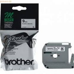 Nastro Brother - Nero su bianco 9mm  p-touch 65
