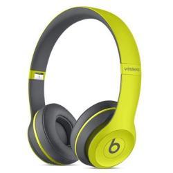 Beats Solo2 Wireless - Casque - sur-oreille - sans fil - Bluetooth - jaune - pour iPad (3rd generation); iPad 1; 2; iPad Air; iPad Air 2; iPad mini; iPad mini 2; 3; 4; iPad Pro; iPad with Retina display; iPhone 3G, 3GS, 4, 4S, 5, 5c, 5s, 6, 6 Plus, 6s, 6s Plus; iPod touch (1G, 2G, 3G, 4G, 5G, 6G)