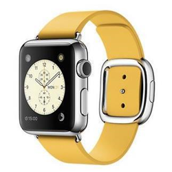 Smartwatch Apple Watch Original - 38 mm - acier inoxydable - montre intelligente avec boucle moderne - cuir - marigold - L size - Wi-Fi, Bluetooth - 40 g