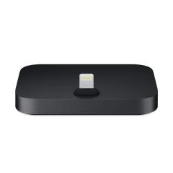 Chargeur Apple Dock - Base pour chargement téléphone - 2 connecteurs de sortie (mini stéréo-téléphone 3,5mm, Lightning) - noir - pour Apple iPhone/iPod (Lightning)