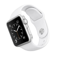 Smartwatch Apple - Serie 1 38mm Argento - Cinturino Bianco