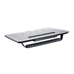 """Support pour LCD CoolerMaster MasterNotepal Series Pro - Ventilateur d'ordinateur portable - 17"""" - 80 mm - noir, argenté(e)"""