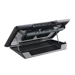 """Support pour LCD CoolerMaster MasterNotepal Series Maker - Ventilateur d'ordinateur portable - 17"""" - 80 mm - noir, argenté(e)"""