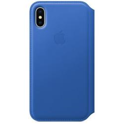Cover iPhone X Leather Folio - Electric Blue...