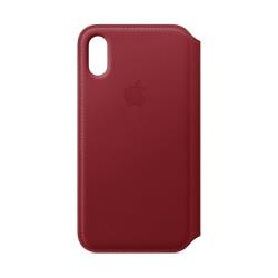 Cover iPhone XS Leather Folio - (PRODUCT)RED...