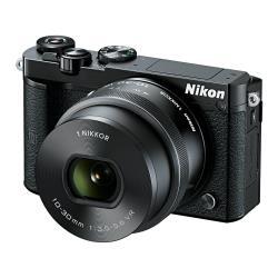 Appareil photo Nikon 1 J5 - Appareil photo numérique - sans miroir - 20.8 MP - 4K - 3x zoom optique 1 objectif NIKKOR VR 10-30mm PD-ZOOM - Wi-Fi, NFC - noir