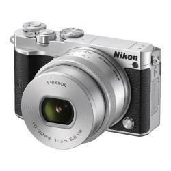 Appareil photo Nikon 1 J5 - Appareil photo numérique - sans miroir - 20.8 MP - 4K - 3x zoom optique 1 objectif NIKKOR VR 10-30mm PD-ZOOM - Wi-Fi, NFC - argenté(e)