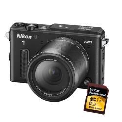 Appareil photo Nikon 1 AW1 - Appareil photo numérique - sans miroir - 14.2 MP - 2.5x zoom optique 1 objectif NIKKOR AW 11-27,5 mm - sous-marin jusqu'à 15 m - noir