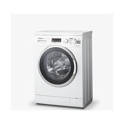 Lave-linge Panasonic NA-106VC5 - Machine à laver - pose libre - largeur : 59.7 cm - profondeur : 41.6 cm - hauteur : 84.5 cm - chargement frontal - 41 litres - 6 kg - 1000 tours/min - blanc