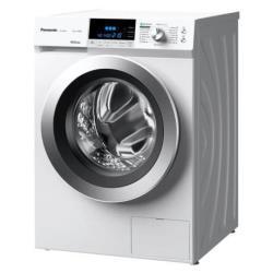 Lave-linge Panasonic NA-148XR1 - Machine à laver - pose libre - largeur : 59.6 cm - profondeur : 63.5 cm - hauteur : 84 cm - chargement frontal - 66 litres - 8 kg - 1400 tours/min - blanc