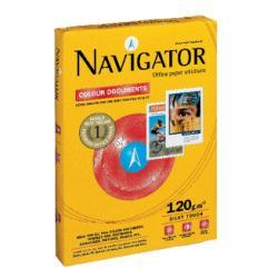 Papier Navigator Colour Documents - Papier ordinaire - 128 micron - blanc - A3 (297 x 420 mm) - 120 g/m² - 500 feuille(s) boîte - (pack de 4)