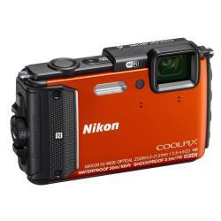 Appareil photo Nikon Coolpix AW130 - Appareil photo numérique - compact - 16.0 MP - 1080p - 5x zoom optique - Wi-Fi, NFC - sous-marin jusqu'à 30 m - orange