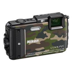 Appareil photo Nikon Coolpix AW130 - Appareil photo numérique - compact - 16.0 MP - 1080p - 5x zoom optique - Wi-Fi, NFC - sous-marin jusqu'à 30 m - camouflage