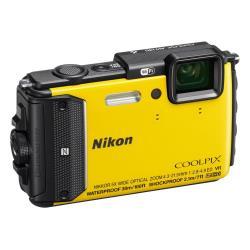 Appareil photo Nikon Coolpix AW130 - Appareil photo numérique - compact - 16.0 MP - 1080p - 5x zoom optique - Wi-Fi, NFC - sous-marin jusqu'à 30 m - jaune