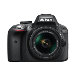 Fotocamera reflex D3300 kit 18-55 afp Nero- nikon - monclick.it