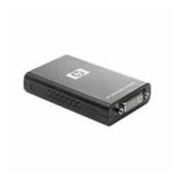 Adaptateur HP - Adaptateur vidéo externe - USB - DVI - pour EliteDesk 800 G2; EliteOne 800 G2; ProDesk 400 G3, 490 G3, 600 G2; ProOne 400 G2, 600 G2