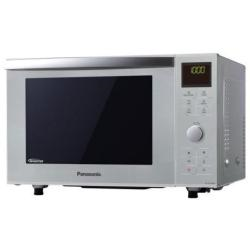 Micro ondes Panasonic NN-DF385MEPG - Slimline - four micro-ondes combin� - gril - pose libre - 23 litres - 1000 Watt - argent�(e)
