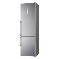 Réfrigérateur Panasonic NR-BN34EX1-E - Réfrigérateur/congélateur - pose libre - largeur : 60 cm - profondeur : 63.3 cm - hauteur : 200 cm - 334 litres - congélateur bas - Classe A+++ - inox