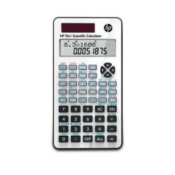 Calculatrice HP 10s+ - Calculatrice scientifique - 10 chiffres + 2 exposants - panneau solaire, pile - blanc