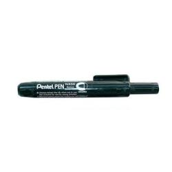 Marqueur Pentel PEN - Marqueur - permanent - noir - encre par coloration - 2.5 mm - moyen - rétractable