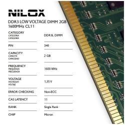 Memoria RAM Nilox - Nxd2l1600m1c11