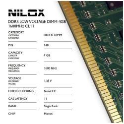 Memoria RAM Nilox - Nxd4l1600m1c11