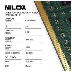 Memoria RAM Nilox - Nxd8l1600m1c11