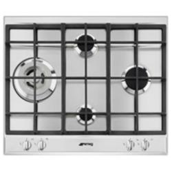 Plan de cuisson Smeg Selection P261XGH - Table de cuisson au gaz - 4 plaques de cuisson - Niche - largeur : 55.5 cm - profondeur : 47.8 cm - inox