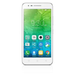 """Smartphone Lenovo C2 - Smartphone - double SIM - 4G LTE - 8 Go - microSDHC slot - GSM - 5"""" - 1 280 x 720 pixels (294 ppi) - IPS - 8 MP (caméra avant de 5 mégapixels) - Android - blanc"""