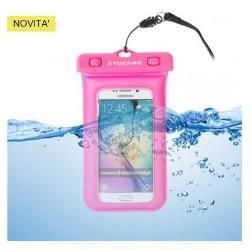 Housse Tucano Papera - Étui de protection étanche pour téléphone portable - PVC - Fuchsia