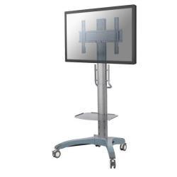 """Support pour LCD NewStar Mobile TV Floor Stand PLASMA-M2000 - Chariot pour LCD / écran plasma / lecteur DVD (inclinaison et rotation) - argenté(e) - Taille d'écran : 32""""-65"""""""
