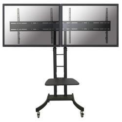 """Support pour LCD NewStar Mobile Dual TV Floor Stand PLASMA-M2000ED - Pied pour 2 écrans LCD / plasma - argenté(e) - Taille d'écran : 27""""-60"""" - au sol"""