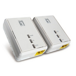 Power line Level One - Kit 2 adattatori powerline 500mbps