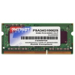 Barrette RAM Patriot Signature Apple - DDR3 - 4 Go - SO DIMM 204 broches - 1066 MHz / PC3-8500 - CL7 - 1.5 V - mémoire sans tampon - non ECC
