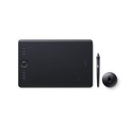 Tablette graphique Wacom Intuos Pro Medium - Numériseur - 22.4 x 14.8 cm - multitactile - électromagnétique - sans fil, filaire - USB, Bluetooth - noir