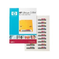 Étiquettes HPE Ultrium 3 RW Bar Code Label Pack - Étiquettes code à barres - pour StorageWorks MSL4048; StorageWorks 1/8 G2 Tape Autoloader; StorageWorks Ultrium 920