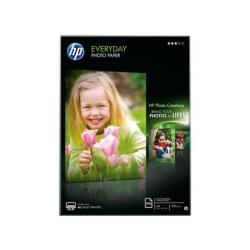 Papier HP Everyday Photo Paper - Brillant - A4 (210 x 297 mm) - 200 g/m² - 100 feuille(s) papier photo - pour Deskjet 2050 J510; Envy 100 D410; Officejet 6000 E609; PageWide MFP 377; PageWide Pro 452