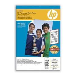Papier HP Advanced Glossy Photo Paper - Brillant - 100 x 150 mm - 250 g/m² - 100 feuille(s) papier photo - pour Deskjet 2050 J510; Officejet 6000 E609, 7500; PageWide MFP 377; PageWide Pro 452