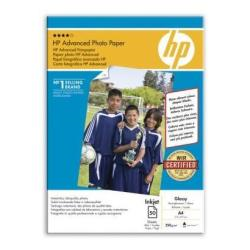 Papier HP Advanced Glossy Photo Paper - Brillant - A4 (210 x 297 mm) 50 feuille(s) papier photo - pour Deskjet 2050 J510; Officejet 6000 E609; PageWide MFP 377; PageWide Pro 452