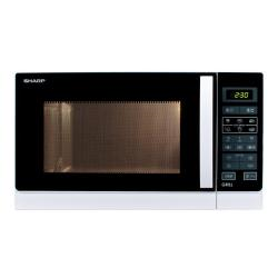 Micro ondes Sharp R-7429(W)W - Four micro-ondes grill - pose libre - 25 litres - 900 Watt - blanc